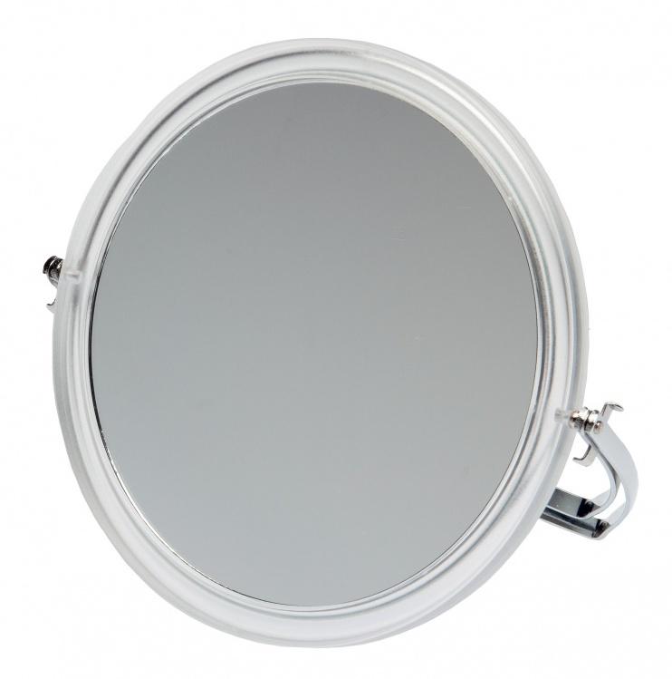 DEWAL BEAUTY Зеркало настольное, в прозрачной оправе, на металлической подставке 165x163х10 мм -  Зеркала