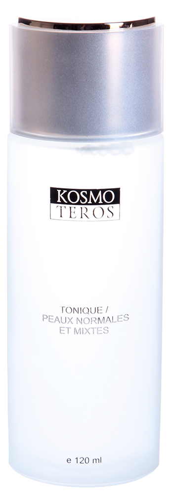 KOSMOTEROS PROFESSIONAL PARIS Тоник очищающий для нормальной и комбинированной кожи 120млТоники<br>Уникальная формула этого чудесного тоника базируется на растительных экстрактах, регулирующих секрецию сальных желез и освежающих кожу. Улучшает общее состояние кожи и восстанавливает природное равновесие: сужаются поры и уменьшается сальность Т-зоны, восстанавливается водный баланс кожи. Активные ингредиенты: экстракты крапивы, чабреца, ромашки, хмеля. Витамин Е. Глицерин. Способ применения: тоник нанести с помощью ватных дисков после каждого процесса очищения или для тонизации кожи.<br><br>Объем: 100<br>Вид средства для лица: Очищающий<br>Возраст применения: После 25