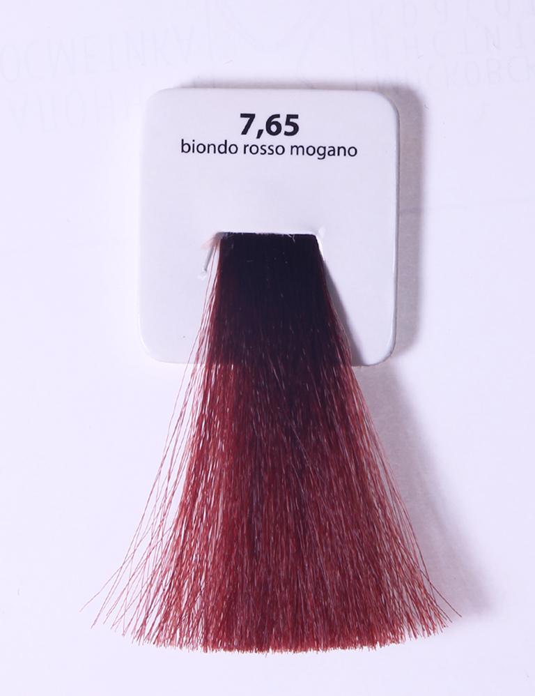 KAARAL 7.65 краска для волос / Sense COLOURS 100млКраски<br>7.65 красно-махагоновый блондин Перманентные красители. Классический перманентный краситель бизнес класса. Обладает высокой покрывающей способностью. Содержит алоэ вера, оказывающее мощное увлажняющее действие, кокосовое масло для дополнительной защиты волос и кожи головы от агрессивного воздействия химических агентов красителя и провитамин В5 для поддержания внутренней структуры волоса. При соблюдении правильной технологии окрашивания гарантировано 100% окрашивание седых волос. Палитра включает 93 классических оттенка. Способ применения: Приготовление: смешивается с окислителем OXI Plus 6, 10, 20, 30 или 40 Vol в пропорции 1:1 (60 г красителя + 60 г окислителя). Суперосветляющие оттенки смешиваются с окислителями OXI Plus 40 Vol в пропорции 1:2. Для тонирования волос краситель используется с окислителем OXI Plus 6Vol в различных пропорциях в зависимости от желаемого результата. Нанесение: провести тест на чувствительность. Для предотвращения окрашивания кожи при работе с темными оттенками перед нанесением красителя обработать краевую линию роста волос защитным кремом Вaco. ПЕРВИЧНОЕ ОКРАШИВАНИЕ Нанести краситель сначала по длине волос и на кончики, отступив 1-2 см от прикорневой части волос, затем нанести состав на прикорневую часть. ВТОРИЧНОЕ ОКРАШИВАНИЕ Нанести состав сначала на прикорневую часть волос. Затем для обновления цвета ранее окрашенных волос нанести безаммиачный краситель Easy Soft. Время выдержки: 35 минут. Корректоры Sense. Используются для коррекции цвета, усиления яркости оттенков, создания новых цветовых нюансов, а также для нейтрализации нежелательных оттенков по законам хроматического круга. Содержат аммиак и могут использоваться самостоятельно. Оттенки: T-AG - серебристо-серый, T-M - фиолетовый, T-B - синий, T-RO - красный, T-D - золотистый, 0.00 - нейтральный. Способ применения: для усиления или коррекции цвета волос от 2 до 6 уровней цвета корректоры добавляются в краситель по Правил
