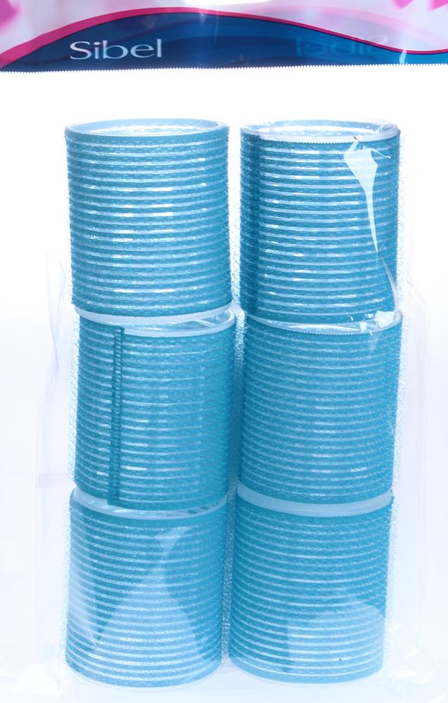 SIBEL Бигуди-лип.(10)S 56 мм голубые 6шт/уп SibelБигуди<br>Бигуди-липучки Sibel VELCRO 4166049. Длина 60 мм, диаметр 56 мм. Упаковка 6 шт. Цвет: голубой.<br>