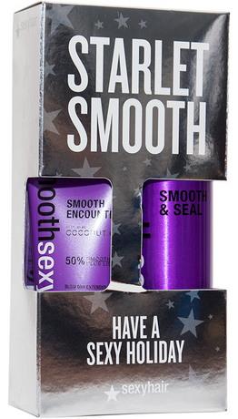SEXY HAIR Набор Спрей и крем разглаживающий ((38SS06+38SE03)Наборы<br>В состав входит: Спрей разглаживающий для волос (Smooth &amp;amp; Seal) 150 мл Крем разглаживающий для волос (Smooth Encounter) 100 мл Спрей разглаживающий.&amp;nbsp; Невесомый спрей для всех типов волос. Избавляет от пушистости, придает блеск, увлажняет волосы, блокирует проникновение влаги извне. Предотвращает пушение волос, сглаживает кутикулу, усиливая блеск волос, защищает цвет волос от выгорания под воздействием UVA/UVB лучей. Способ применения: распылите на волосы для лучшей управляемости, блеска и защиты от влажности. Может использоваться неоднократно в течение дня для гладкости и блеска по мере необходимости. Крем разглаживающий Содержит витамины Е и К из кокосового масла. Не утяжеляет волосы. Укрощает пушащиеся, непослушные, вьющиеся и мультитекстурные волосы. Не содержит солей, может использоваться на волосах после кератинового или химического выпрямления, так же подходит для наращённых волос. Усовершенствованная формула быстро впитывается, закрывает слои кутикулы, обеспечивая контроль, управляемость и оптимальное скольжение. Защищает от термического воздействия. Помогает сократить время сушки и позволяет укладке держаться дольше. Способ применения: нанесите небольшое количество на влажные волосы от корней до кончиков и высушите по прядям феном и круглой щеткой для получения блестящего стойкого результата.<br>