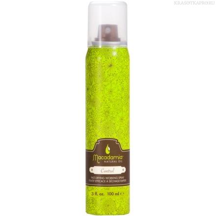 MACADAMIA Natural Oil Лак влагостойкий подвижной фиксации / Control Hair spray 100млЛаки<br>Обеспечивает подвижную фиксацию и блеск. Быстросохнущий лак, влагостойкий, легко счесывается с волос и не оставляет налет. Не склеивает волосы. Придает блеск. Натуральная защита от УФ-лучей. Способ применения: распылите на расстоянии 20 см на волосы. Для более сильной фиксации распылите повторно.<br><br>Типы волос: Для всех типов
