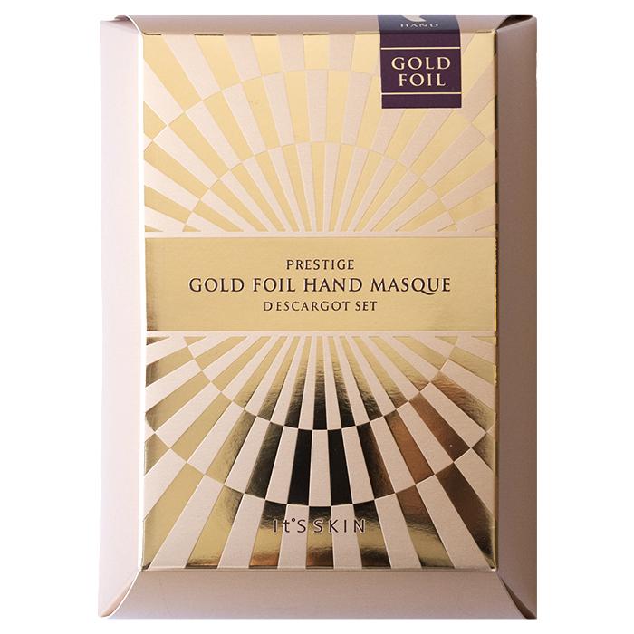 It'S SKIN Маска питательная для рук Дескарго Голд / Prestige Gold Foil Hand Masque D'escargot (2*6 мл) 5 шт