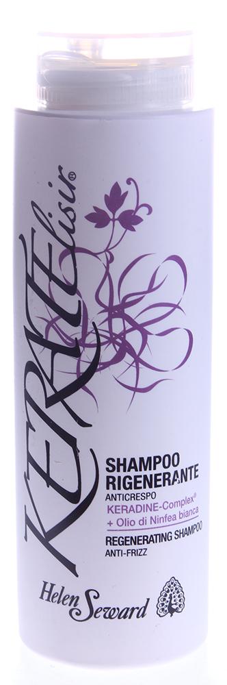 HELEN SEWARD Шампунь регенерирующий / KERATELISIR 250млШампуни<br>Шампунь против курчавости с KERADINE-Complex  и маслом белой лилии. Бархатный эффект. Дисциплинирует волнистые волосы. Усиливает блеск и возвращает волосам их натуральную динамичность и плавность движения. Придает мягкость и удивительную легкость. Богатая текстура. Активные ингредиенты: KERADINE-Complex , масло белой лилии. Способ применения: нанести на влажные волосы и деликатно массировать. Тщательно промыть теплой водой. При необходимости повторить.<br><br>Типы волос: Кудрявые