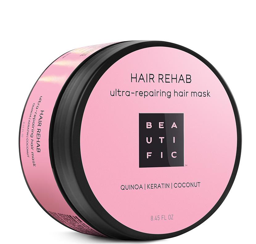 Купить BEAUTIFIC Маска супер восстанавливающая с протеинами киноа, кератином и кокосовым маслом для поврежденных волос / Hair Rehab 250 мл