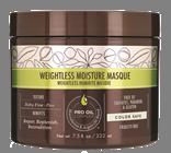 MACADAMIA Natural Oil Маска увлажняющая для тонких волос / Weightless Moisture 222 млМаски<br>Глубоко увлажняет, питает сухие поврежденные волосы, делая их сильными и эластичными. Укрепляет и защищает от дальнейших повреждений. Обеспечивает длительное кондиционирование. Не утяжеляет тонкие волосы. PRO OIL COMPLEX и масло грецкого ореха обеспечивают гладкость, защиту от пушистости и спутывания. Активные ингредиенты: Масла макадамии и арганы,Масло кокоса,Масло грецкого ореха,Витамин Е<br><br>Вид средства для волос: Увлажняющий<br>Типы волос: Тонкие