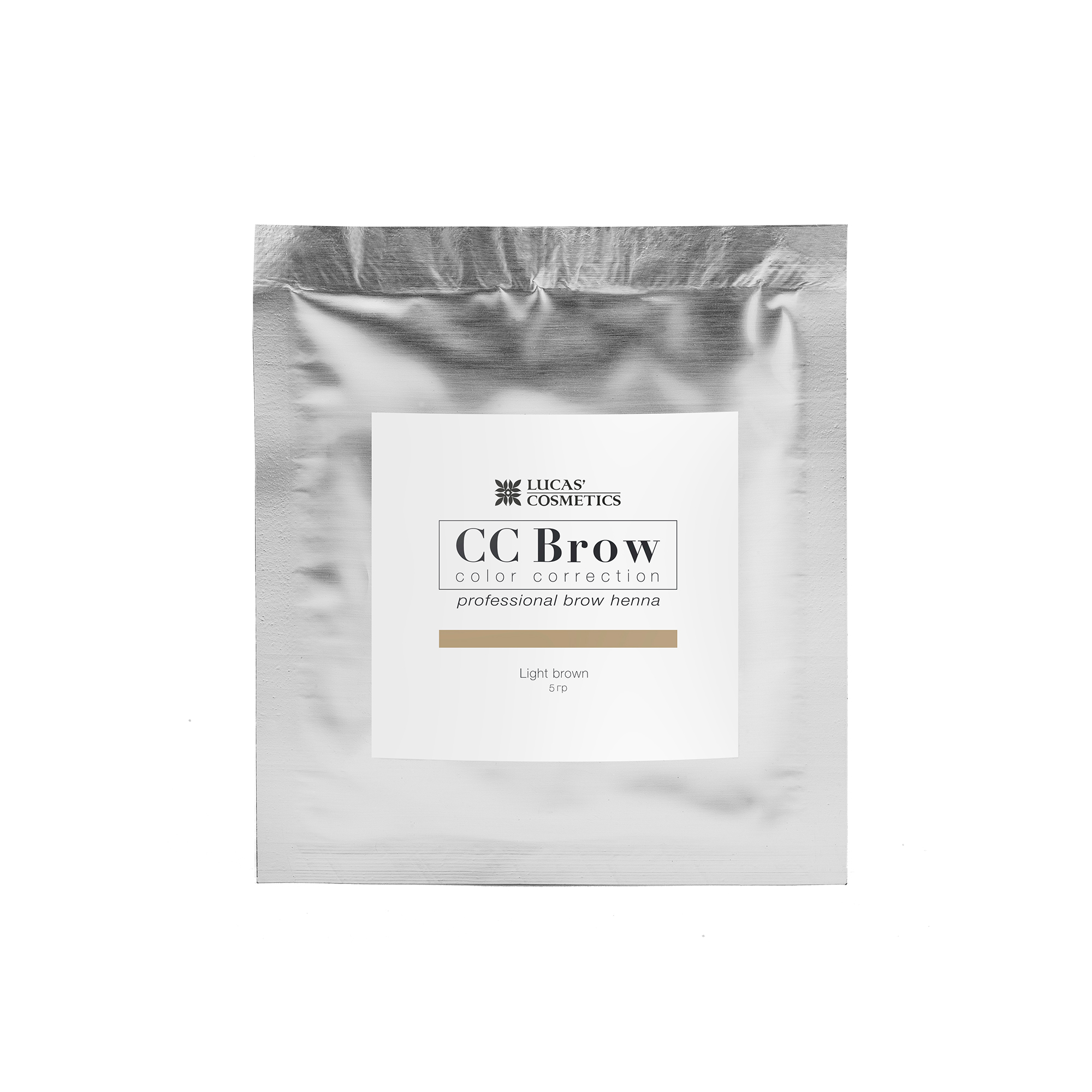 LUCAS' COSMETICS Хна для бровей, светло-коричневый (в саше) / CC Brow light brown 5 г