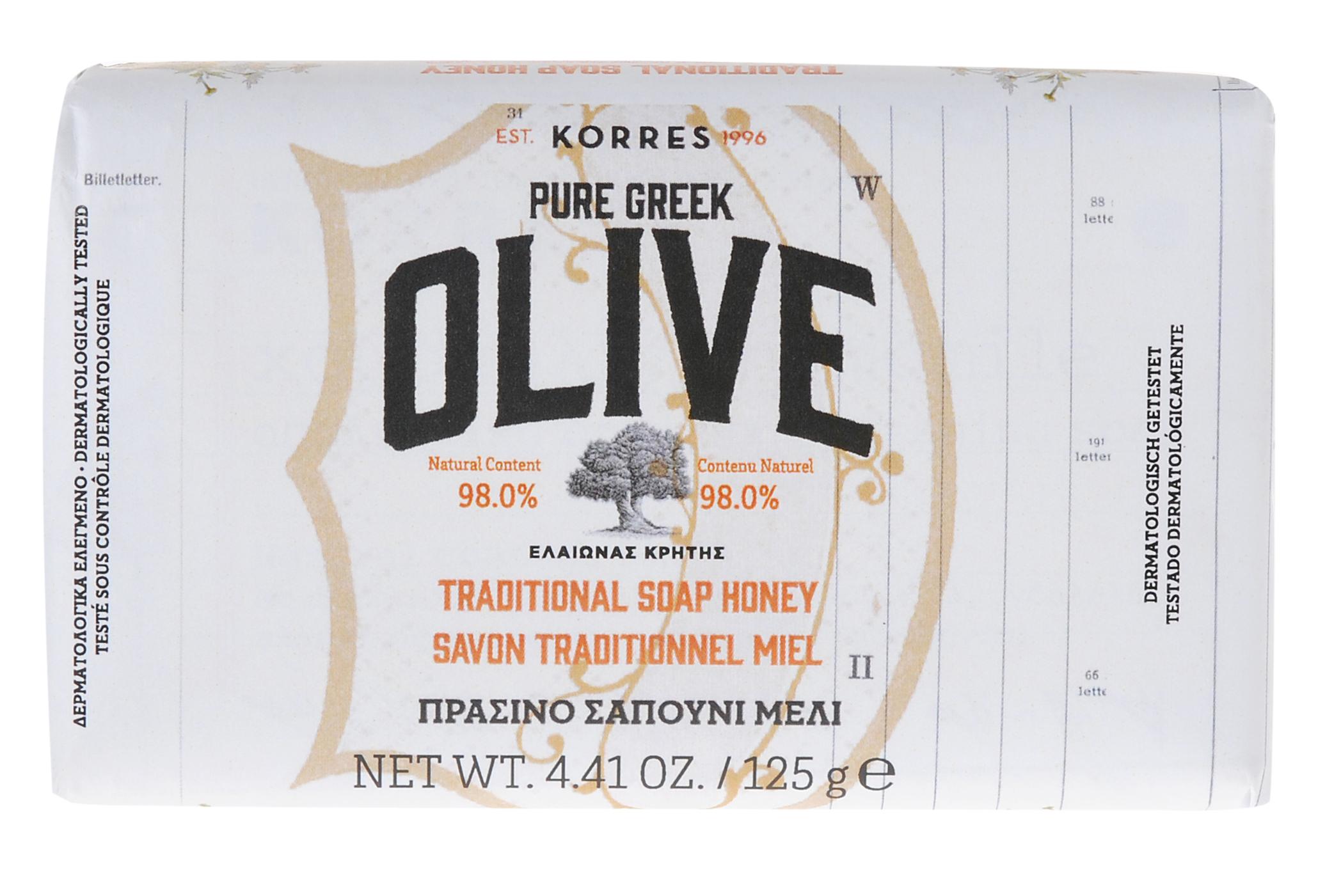 KORRES Мыло греческое традиционное, мед 125 г -  Мыла