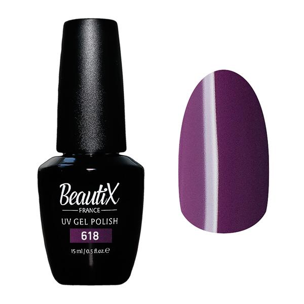 Купить BEAUTIX 618 гель-лак для ногтей 15 мл, Фиолетовые