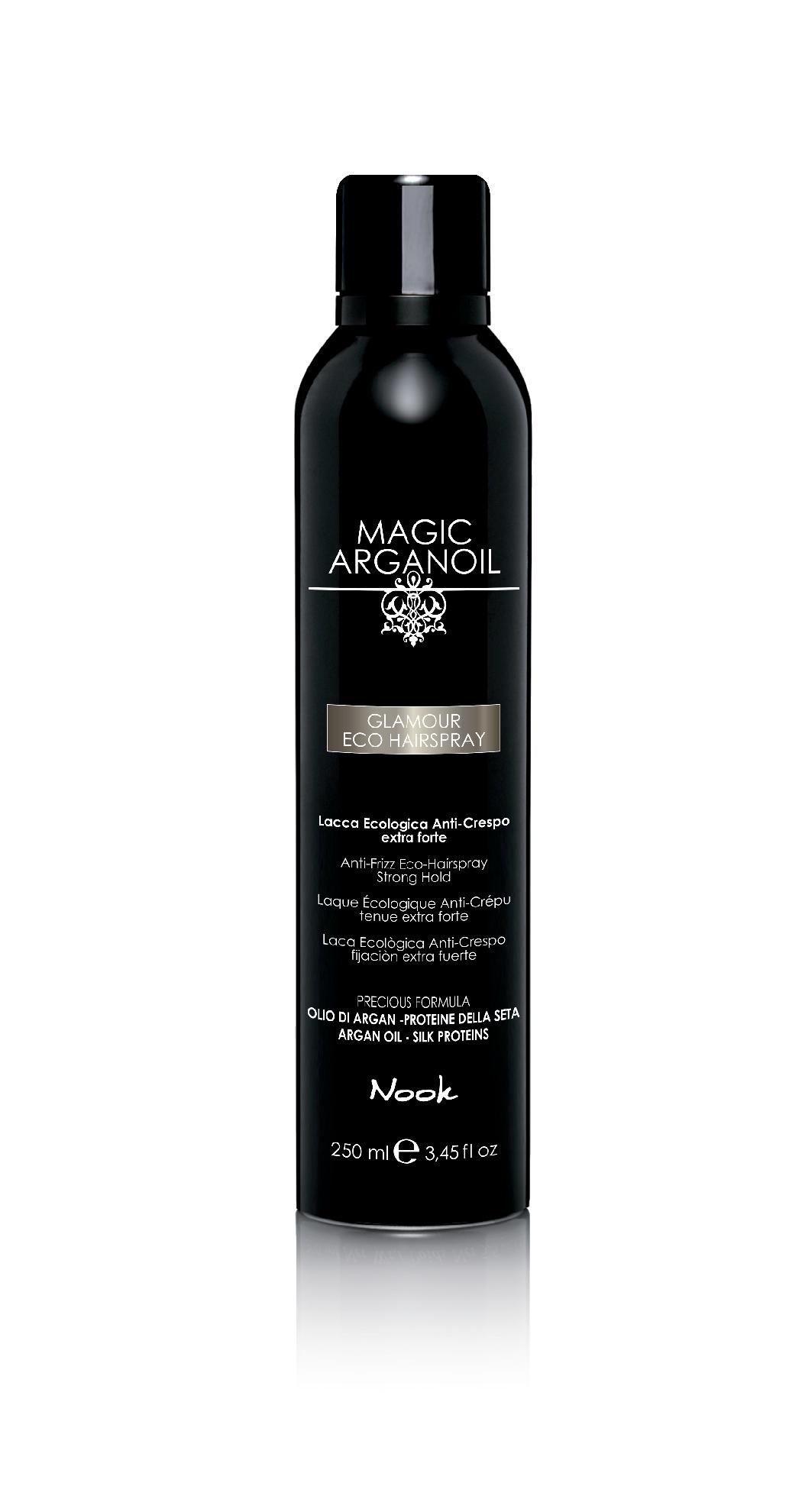 """Купить со скидкой NOOK Лак гламурный для волос """"Магия Арганы"""" / Glamour Eco Hairspray MAGIC ARGANOIL 250мл"""