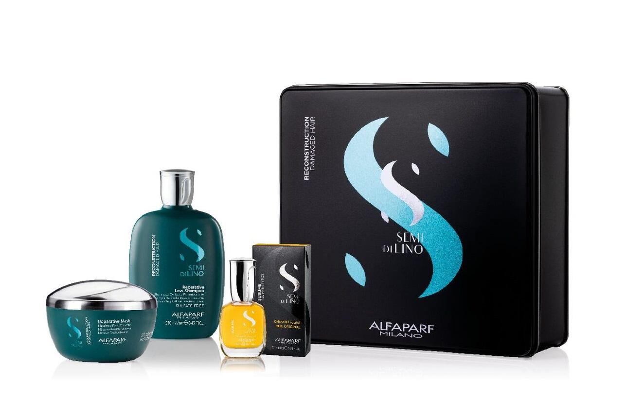 Купить ALFAPARF MILANO Набор подарочный для поврежденных волос (шампунь 250 мл, маска 200 мл, масло 15 мл) SDL RECONSTRUCTION 2020