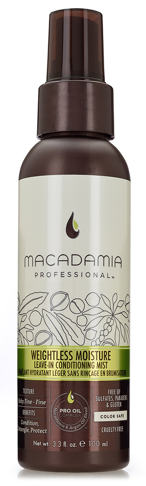 MACADAMIA PROFESSIONAL �����-����������� ����������� / Weightless Moisture Leave-in conditioning mist 100��