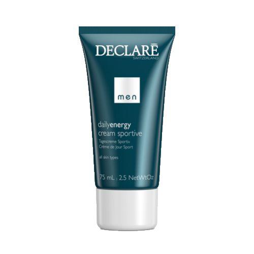 DECLARE Крем омолаживающий для активных мужчин / Anti-Wrinkle Cream Sportive 75млЛицо<br>Sportive Anti-Age Cream от Declare   роскошное средство по уходу за кожей для мужчин. Крем с легкой текстурой активизирует клетки кожи и сокращает количество морщин. Предотвращает старение кожи, интенсивно защищая клетки при помощи бета-каротина. Омолаживающий крем для активных мужчин Декларе придает жизненно необходимую упругость коже, эффективно снимает раздражения и защищает клетки. Активные ингредиенты: Src-комплекс, минералы, витамины, тонискин, провитамин А. Способ применения:&amp;nbsp;после очищения или бритья нанести на лицо и шею Sportive Anti-Age Cream.<br><br>Объем: 75 мл<br>Пол: Мужской