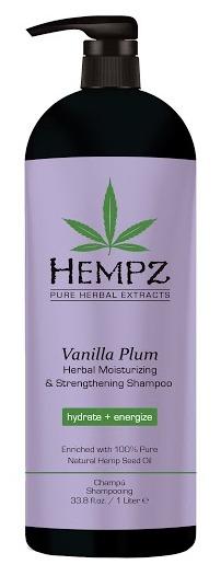 HEMPZ Шампунь растительный увлажняющий и укрепляющий, ваниль и слива 1000 мл