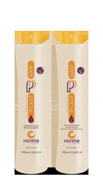 Купить HONMA TOKYO Набор для кератинового выпрямления волос (шампунь 500 мл, реконструирующая маска 500 мл) Plast Hair Bixyplastia Fruit