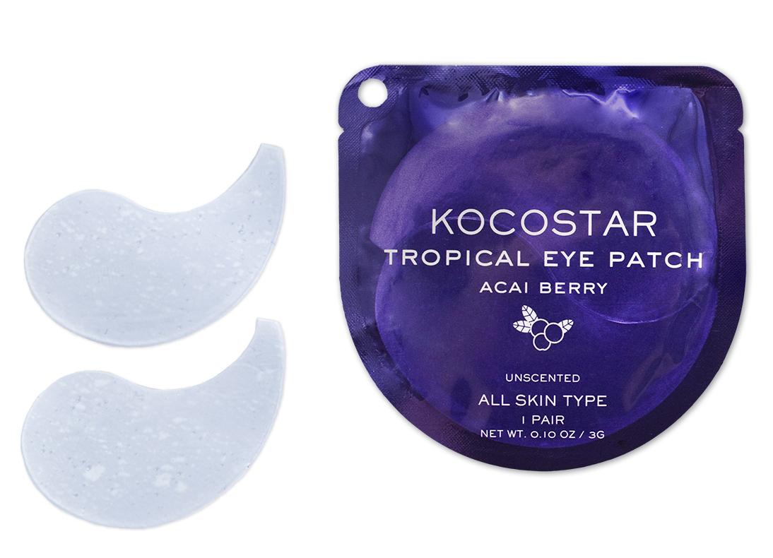 KOCOSTAR Патчи гидрогелевые для глаз Тропические фрукты, ягоды асаи / Tropical Eye Patch Acai Berry Single 2 патча