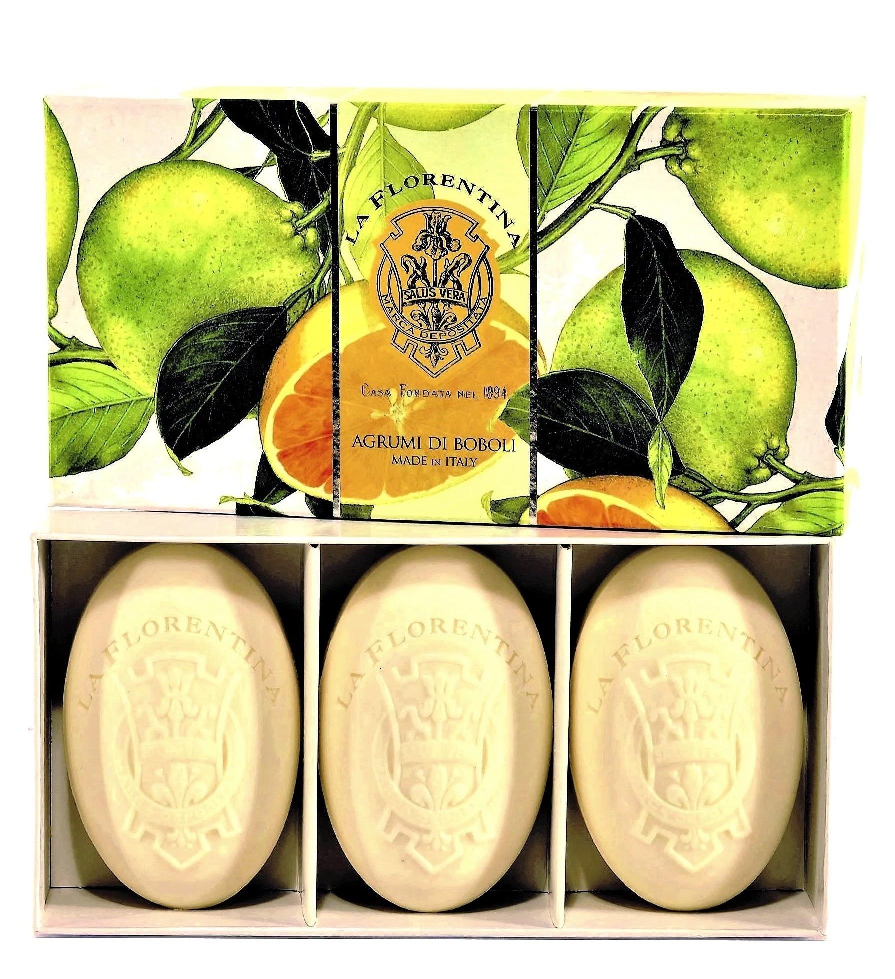 LA FLORENTINA Набор натурального мыла, цитрус / Citrus 3 х 150 г