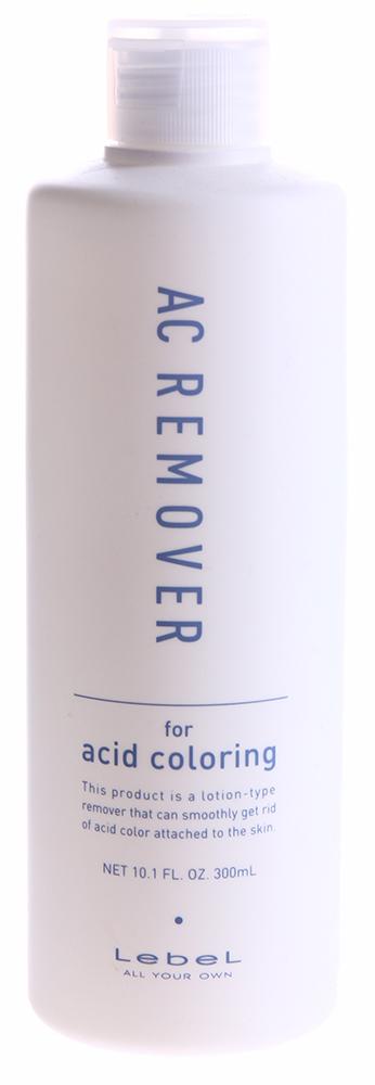 LEBEL Жидкость очищающая для волос и кожи головы после окрашивания / AC REMOVER 300млЛосьоны<br>Средство для удаления красителя с кожи. Не содержит диаминовой и щелочной основы. Бережно удаляет остатки краски, обладает противовоспалительным действием. Способ применения: использовать перед смыванием краски с волос. Выдавите достаточное количество жидкости на ватный тампон. Не пролейте средство. Удаляйте краску, проводя тампоном со средством по пятнам краски. Не втирайте средство. По завершении процедуры смойте шампунем. Избегайте попадания в глаза. Не глотать.<br><br>Вид средства для волос: Очищающий<br>Типы волос: Окрашенные
