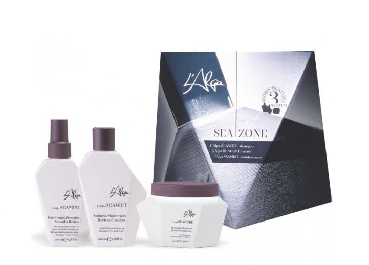 Купить L'ALGA Набор для ежедневного ухода (шампунь 250 мл, маска 250 мл, спрей термозащитный 100 мл) Seazone kit