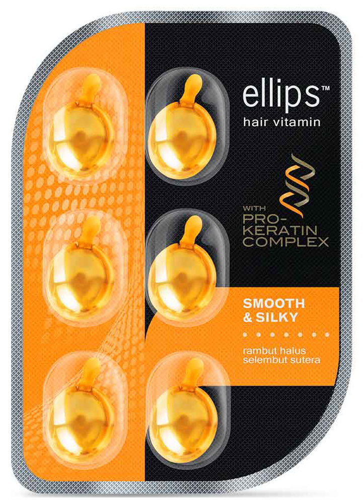Купить ELLIPS Масло для восстановления, питания и увлажнения волос, желтые капсулы / Pro-Keratin Complex Smooth & Silky 6 шт (5, 49 г)
