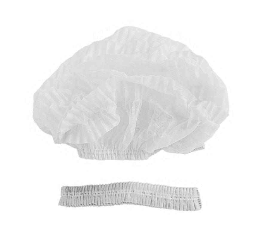 IGROBEAUTY Шапочка Шарлотта НМ, двойная резинка, цвет белый 50 шт