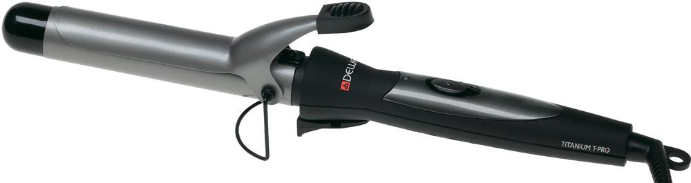 DEWAL PROFESSIONAL Плойка для волос TitaniumT Pro, 19мм 28Вт плойка harizma professional h10309lсd 19 curl control 19 мм плойка для волос 1 шт