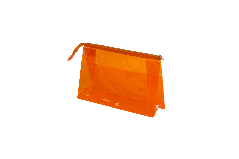 SIBEL Косметичка прозрачная оранжевая / Sibel, 25х15см