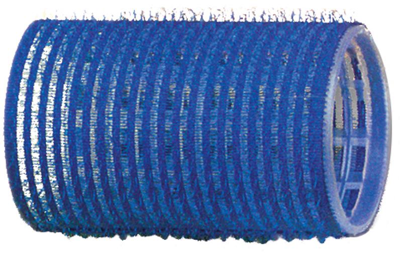 DEWAL PROFESSIONAL Бигуди-липучки синие d 40 мм 12 шт/уп