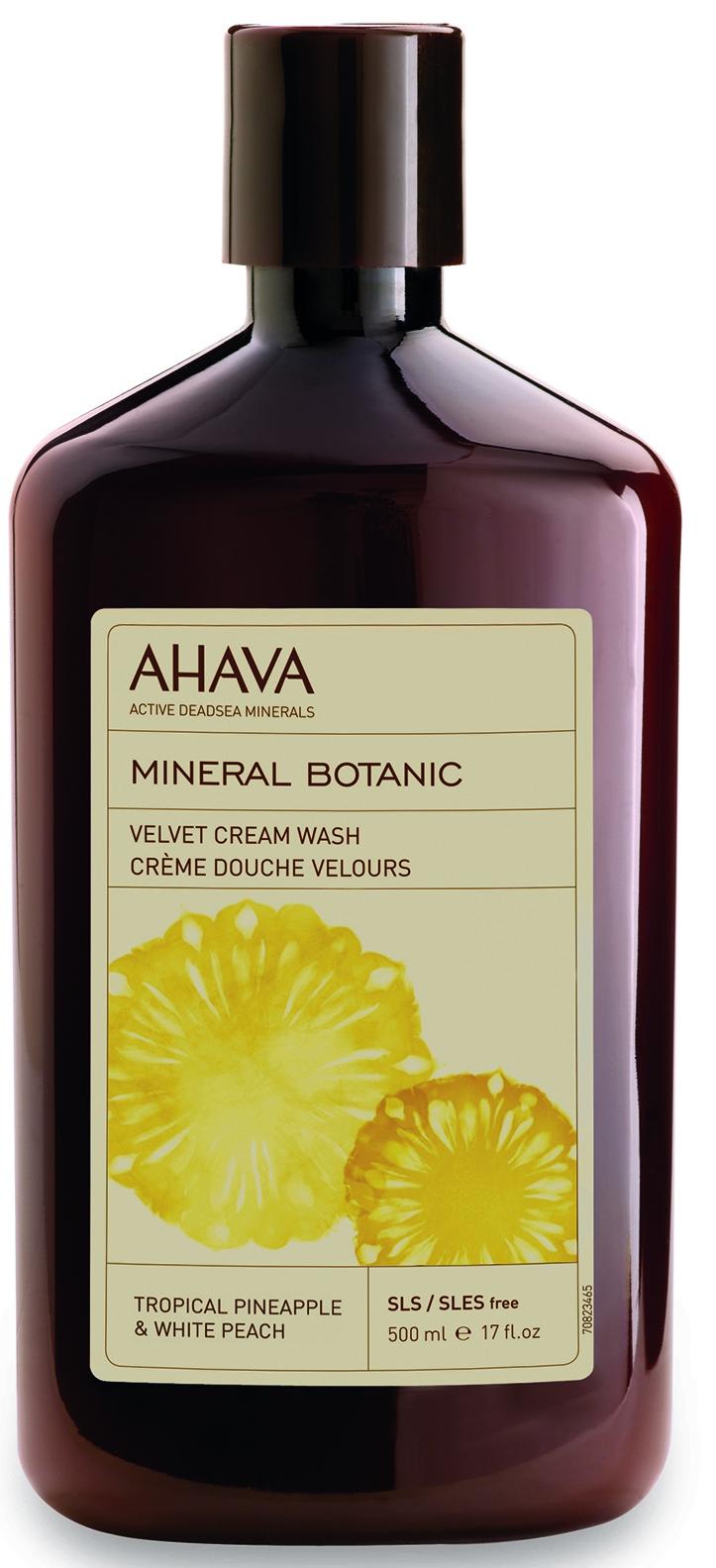 AHAVA Крем-мыло жидкое бархатистое, тропический ананас и белый персик / Mineral Botanic 500 мл