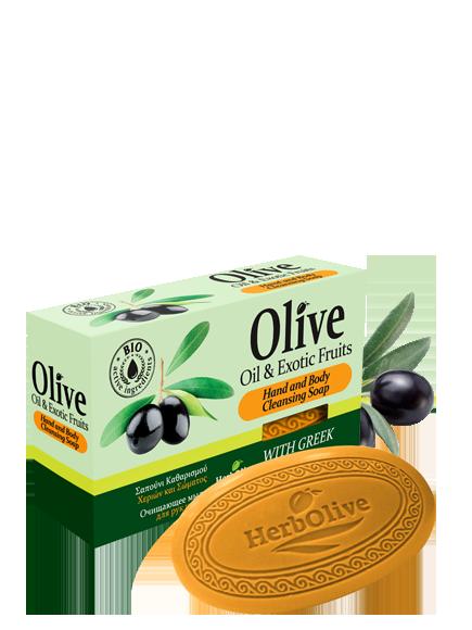 MADIS Мыло оливковое с экзотическими фруктами / HerbOlive 90 г -  Мыла