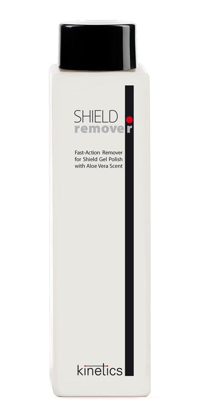KINETICS Жидкость для снятия гель-лака и акриловых ногтей, с ароматом алое вера / SHIELD 240мл