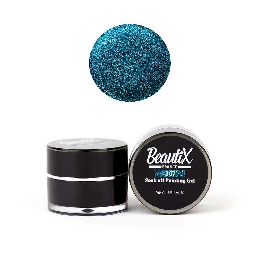 Купить BEAUTIX Глиттер крупнозернистый, 307 синий / Gel Painting Glitz 5 г