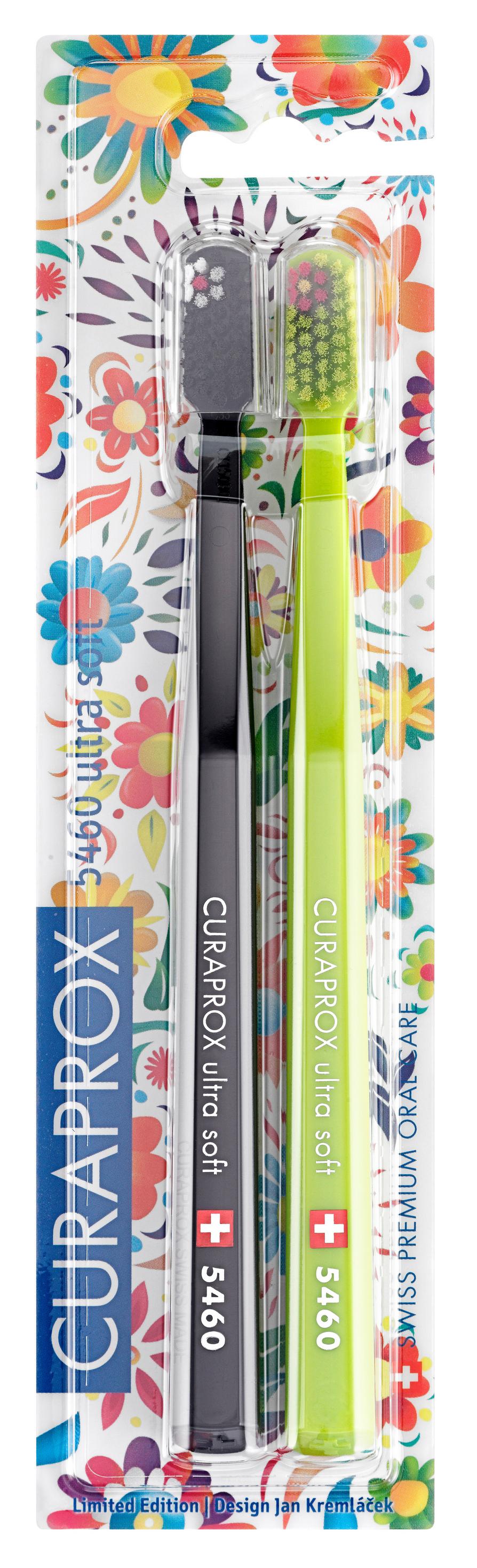 Купить CURAPROX Набор зубных щеток ultrasoft, d 0.10 мм, черная и зеленая / CS Duo Hawaii3 2 шт