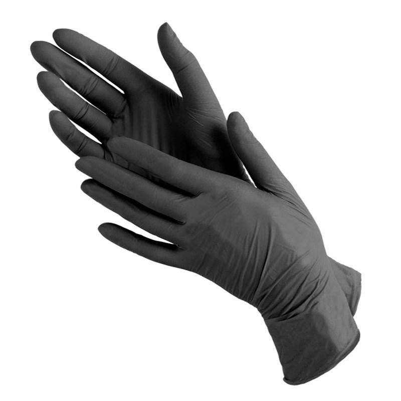 ЧИСТОВЬЕ Перчатки нитриловые черный NitriMax L 100 шт  - Купить
