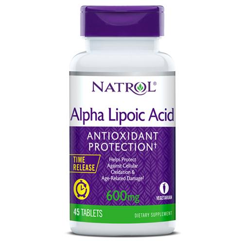 Купить NATROL Добавка биологически активная к пище ALPHA LIPOIC ACID 600 мг 45 таблеток пролонгированного высвобождения