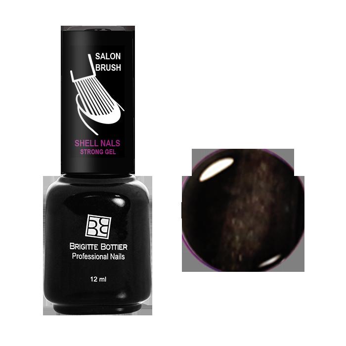 BRIGITTE BOTTIER 948 гель-лак магнитный для ногтей, коричневый кошачий глаз / Shell Nails 12 мл