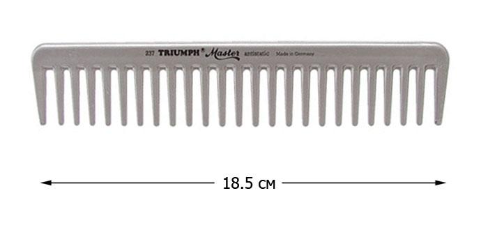 TRIUMPH Расческа TR гребень 7 1/2Расчески<br>Расческа TRIUMPH Master (185 мм.) из высококачественного пластика. Антистатик.<br>