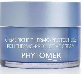 PHYTOMER Крем термо-защитный питат. для сухой и очень сухой кожи / RICH THERMO-PROTECTIVE CREAM 50млКремы<br>Защищает кожу от неблагоприятных температурных воздействий (жара и холод), увлажняет и питает кожу. Рекомендуется для сухой и очень сухой кожи. Действие: предотвращает повреждение эпидермального барьера и преждевременное старение кожи. Активные ингредиенты: новейшее достижение в косметологии волокна SeaCell  (защита кожи), Аргановое масло, масло сладкого миндаля, масло ши, масло абрикосовой косточки, Феогидран(увлажнение) и олигомер( восстановление). Способ применения: утром и вечером на предварительно очищенную кожу.<br><br>Объем: 50 мл<br>Вид средства для лица: Защитный