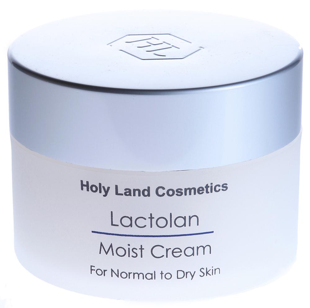 HOLY LAND Крем увлажняющий для сухой кожи / Moist Cream For Dry Skin LACTOLAN 250млКремы<br>Увлажняющий, питательный и восстанавливающий крем для сухой кожи.  Увлажнение и питание кожи.  Придает коже бархатистость, мягкость, упругость.  Ускоряет репаративные процессы, восстанавливает кожу после чистки и пилингов.  Способ применения: Использовать в качестве увлажнителя, защиты и основы под макияж.<br><br>Объем: 250<br>Возраст применения: После 25