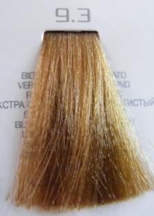 HAIR COMPANY 9.3 краска для волос / HAIR LIGHT CREMA COLORANTE 100млКраски<br>Профессиональная стойкая крем-краска для волос. Результат последних разработок ведущих специалистов и продукт высоких технологий. Профессиональная стойкая крем-краска Hair Light Crema Colorante богата натуральными ингредиентами и, в особенности, эксклюзивным мультивитаминным восстанавливающим комплексом. Новейший химический состав (с минимальным содержанием аммиака) гарантирует максимально бережное отношение к структуре волос. Применение исключительно активных ингредиентов и пигментов высочайшего качества гарантирует получение однородного и стойкого цвета, интенсивных и блестящих, искрящихся оттенков, кроме того, дает полное покрытие (прокрашивание) седых волос. Тона профессиональной стойкой крем-краски Hair Light Crema Colorante дают возможность парикмахеру гибко реагировать на любые требования, предъявляемые к окраске волос. Наличие 5 микстонов и нейтрального (бесцветного) микстона, позволяет достигать результатов окраски самого высокого уровня. Применение: Смешать Hair Light Crema Colorante с Hair Light Emulsione Ossidante в пропорции 1:1,5. Время воздействия 30-45 мин.<br><br>Цвет: Золотистый и медный<br>Объем: 100<br>Вид средства для волос: Стойкая<br>Класс косметики: Профессиональная