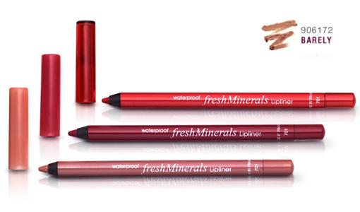 FRESH MINERALS Карандаш водостойкий для губ Barely / Waterproof Lipliner 10,9грКарандаши<br>Водостойкий карандаш для губ freshMinerals прекрасно подчеркивает красоту губ и позволяет создать четкий красивый контур. Натуральные компоненты и минералы, входящие в состав карандаша, абсолютно безопасны и экологически чистые.  Помимо этого карандаш для губ стойкий, а это говорит о том, что подправлять макияж губ очень часто не стоит. Также нанесенный контур &amp;laquo;не боится&amp;raquo; воды.<br>