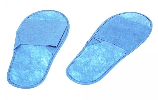 Купить IGROBEAUTY Тапочки спанбонд, открытый мыс, цвет голубой/синий 25 пар
