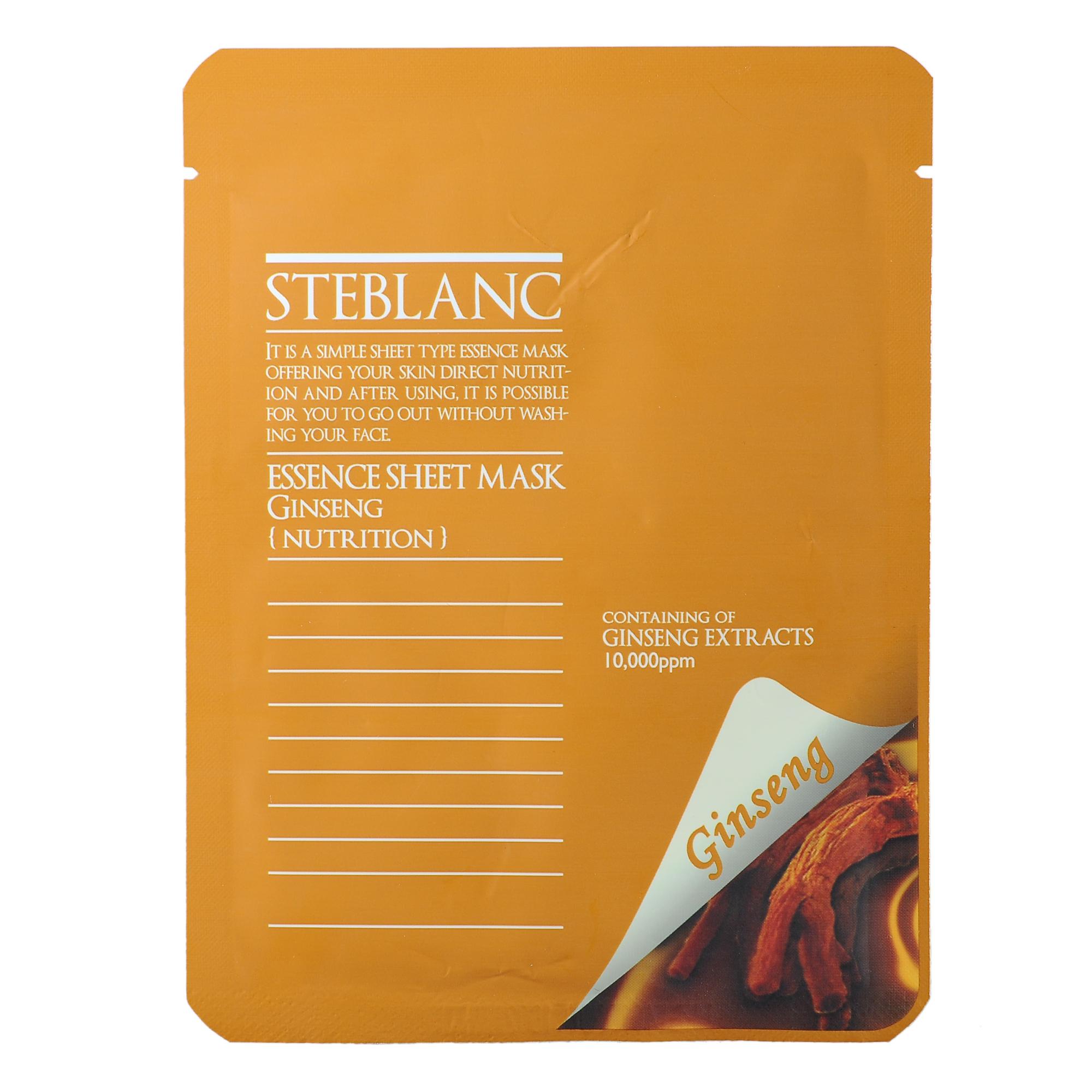 STEBLANC Маска питательная с экстрактом женьшеня для лица / ESSENCE SHEET MASK 20гр