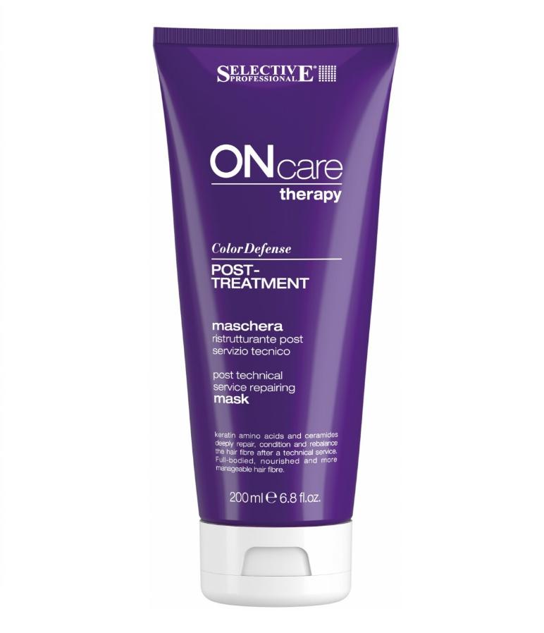 Купить SELECTIVE PROFESSIONAL Маска восстанавливающая после химической обработки для волос / ONC Color Defense POST-TREATMENT 200 мл