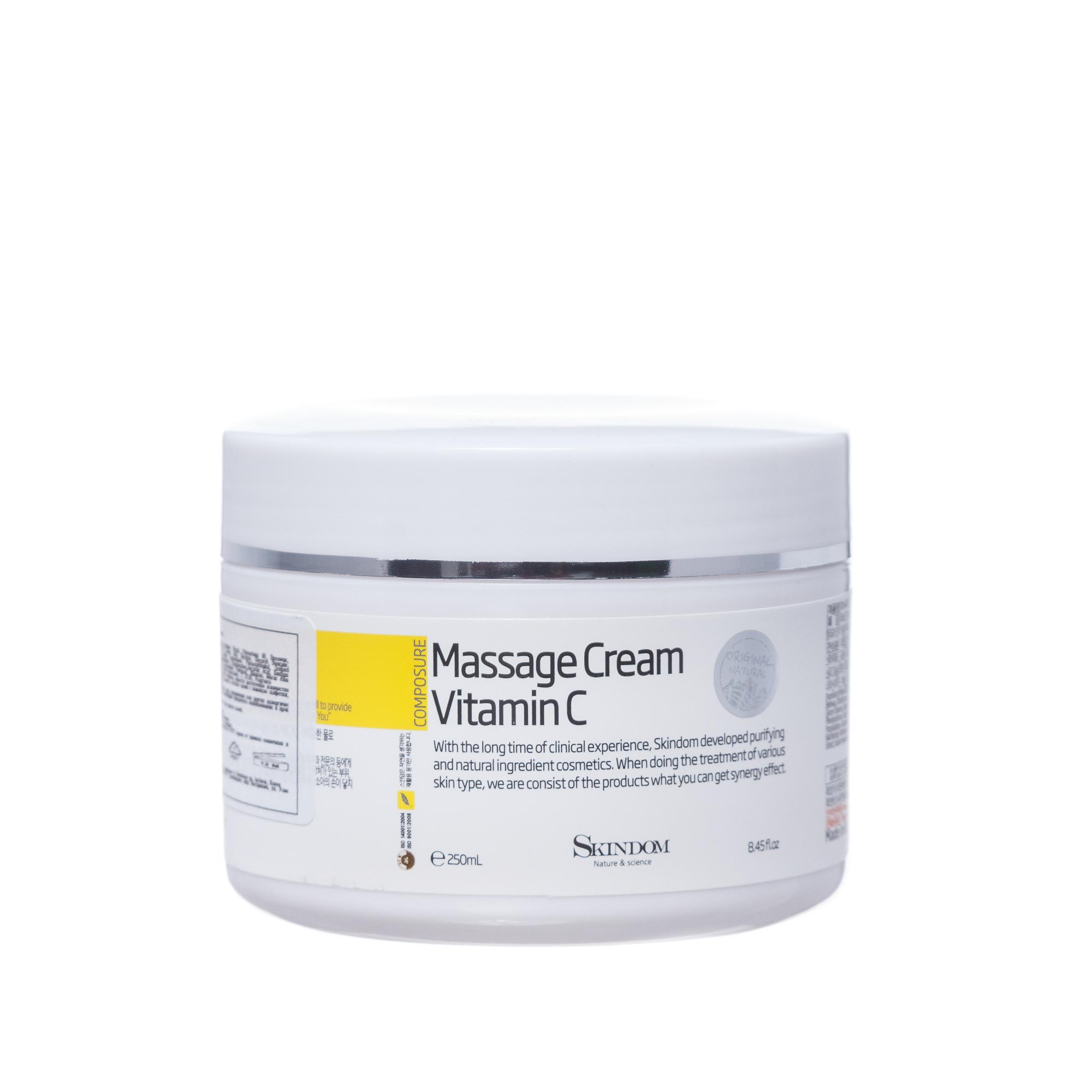 SKINDOM Крем массажный с витамином С / MASSAGE CREME VITAMIN C 250 мл