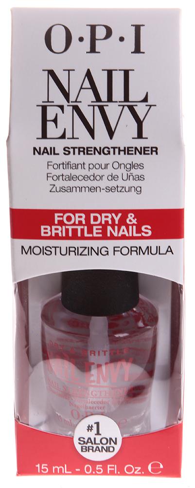 OPI Средство для сухих и ломких ногтей / Dry &amp; Brittle Nail Envy 15млЛечебные средства<br>Envy Dry &amp;amp; Brittle Nail Envy OPI придает ногтям естественный блеск, образуя надежное и стойкое покрытие. Формирует идеально ровную поверхность ногтя, насыщая его полезными веществами - кератином, кальцием витамином Е и С. Средство улучшает состояние ногтей, способствуют их росту, сохранению прочности. Благодаря содержащемуся в нем витаминному комплексу, обеспечивает твердость ногтям, эффективно формирует длинные и прочные ногти всего за две недели. Эксклюзивная технология. Активные ингредиенты: Основа, кальций, витамин Е и С, кератин, аминокислоты, увлажняющие компоненты.  Способ применения: Покрытие для ногтей предназначено для комплексного ухода за их состоянием и применять его следует в течение двух недель для женского и мужского маникюра. Можно использовать как базовое покрытие под лак, в салонах и самостоятельно, в домашних условиях. Используется на протяжении двух недель. Через день наносить на очищенную поверхность ногтей. В дальнейшем, для закрепления результата можно использовать как базовое покрытие под лак.<br><br>Объем: 15