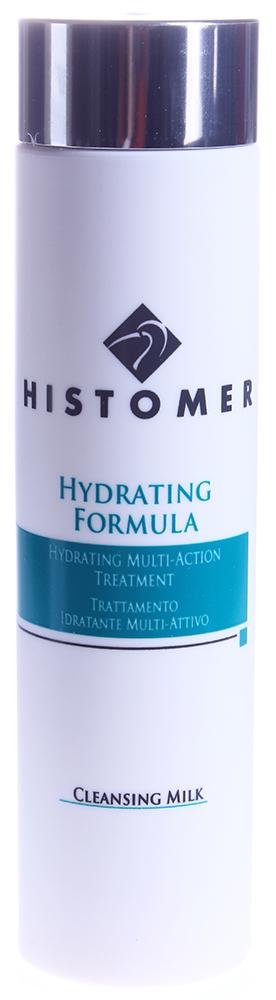 HISTOMER Молочко очищающее увлажняющее 2 в 1 / Hydrating Cleansing Milk HYDRATING FORMULA 200млМолочко<br>Назначение: Молочко с разглаживающим и тонизирующим эффектом. Формула содержит экстракты Хистомерных клеток, аминокислоты, NMF (факторы естественного увлажнения), витамины Е, В5 и С. Активные ингредиенты: Хистомерные клетки корней дуба, цветков акации и почек бука, гидролизированный коллаген, масло сладкого миндаля, пантенол, лецитин, витамины E и C. Способ применения: Нанести небольшое количество на кожу лица, кончиками пальцев распределить по всей поверхности кожи, затем удалить с помощью салфетки или ватного диска. Не требует дополнительное использование тонизирующих лосьонов.<br><br>Объем: 200<br>Вид средства для лица: Тонизирующий<br>Типы кожи: Сухая и обезвоженная