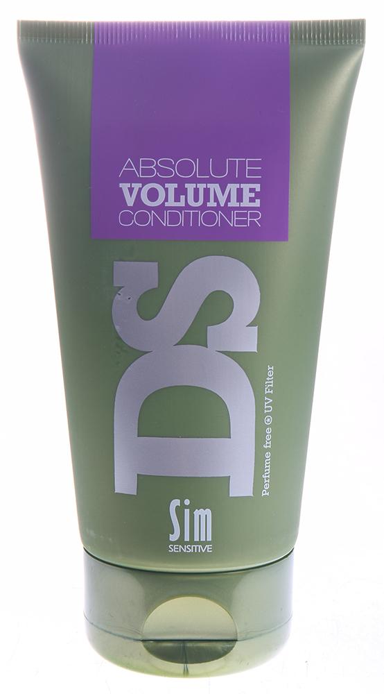 SIM SENSITIVE Бальзам для объема волос Абсолют Волюмe / Absolute Volume Conditioner DS 150млБальзамы<br>Бальзам &amp;laquo;Абсолют Волюм&amp;raquo; входит в состав комплекса  Абсолют Волюм  DS by Sim Sensitive. Основной задачей бальзама является увлажнение, смягчение и текстурирование волос. Кроме этого, бальзам придает волосам упругость и объем и пышность. Бальзам сделает волосы любого типа &amp;ndash; тонкие, нормальные или комбинированные - более упругими. В целях достижения эффекта, в бальзам включены необходимые для этого ингредиенты: натуральный воск и глицерин. Также бальзам снабжен УФ-фильтром, защищающим волосы от ультрафиолета. Бальзам не содержит сульфаты, парабены и ароматизаторы. Способ применения: Нанесите на вымытые шампунем волосы и оставьте на 2-3 минуты; затем смойте.<br>