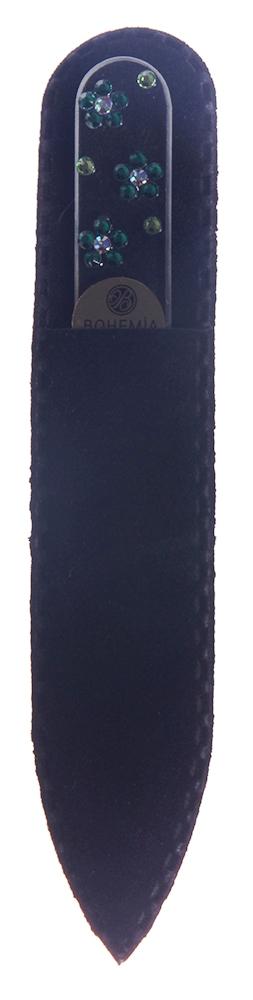 BOHEMIA PROFESSIONAL Пилочка стеклянная прозрачная Ромашки 90ммПилки для ногтей<br>Нет ничего лучше для натуральных ногтей, чем пилка из богемского хрусталя. Данный материал имеет практически неограниченный срок использования. Пилки Bohemia Professional имеют наиболее стойкий абразив. Пилка из богемского хрусталя также может стать стильным аксессуаром или красивым подарком. Bohemia Professional представляет Вам огромный выбор прозрачных и цветных пилок с декором: ручная роспись, декорация стразами, пилки с логотипом, и полноцветные изображения. Инструмент можно стерилизовать и обрабатывать химическими дезинфекторами, антисептиками.<br>