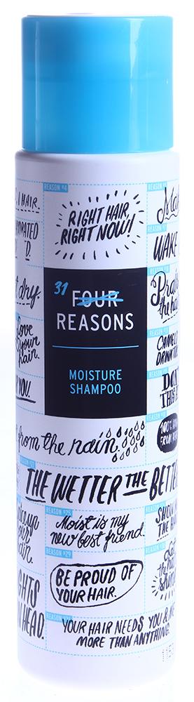 KC PROFESSIONAL Шампунь для интенсивного увлажнения сухих волос / Moisture Shampoo FOUR REASONS 300млШампуни<br>Интенсивно увлажняющий шампунь для сухих, вьющихся, блондированных, либо подвергшихся другому химическому воздействию волос. Восстанавливает естественный баланс влажности, не позволяет волосам пушиться, придает объем и укрепляет волосы. Со свежим фруктовым ароматом. Способ применения: нанесите на влажные волосы легкими массирующими движениями. Вспеньте. Смойте большим количеством воды.<br><br>Вид средства для волос: Увлажняющий